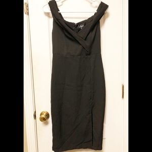 Lulu's Dress Peter Pan Collar Side Slit S D9800